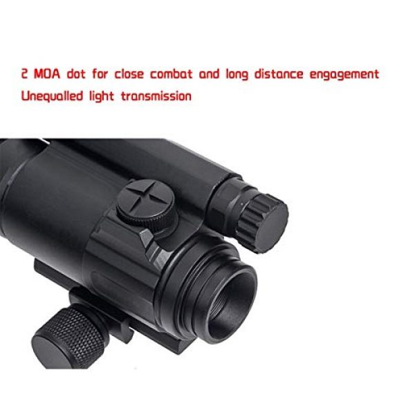 Fashion Sport Rifle Scope 2 Fashion Sport Tactical M4 1x32 Sight red/Green dot Sight Scope 2 MOA for Rifle air Guns Shooting Hunting with Raise Mount Base