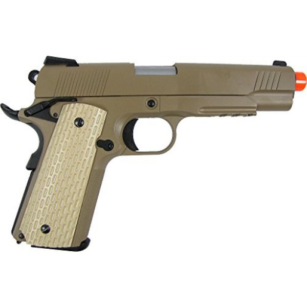 WE Airsoft Pistol 2 WE combat 191 gas blowback full metal - tan(Airsoft Gun)