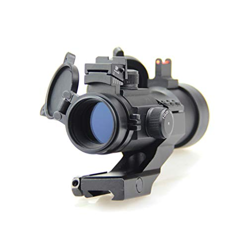 AJDGL Rifle Scope 2 AJDGL 1X30mm Tactical Red Dot Sight Scope- Rapid Ranging Reticle Fiber Optic Front Sight with Picatinny Rails for Rifle Hunting
