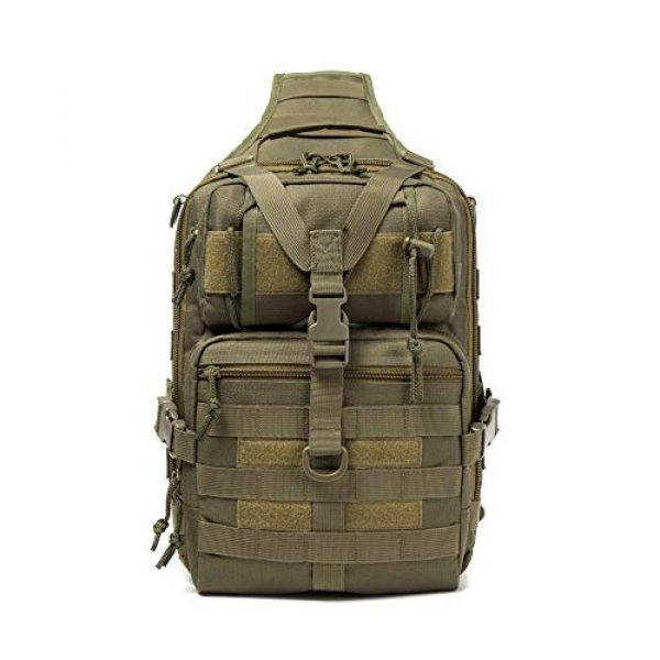 Harsgs Tactical Backpack 4 Harsgs Tactical EDC Sling Bag Pack, Military Rover Shoulder Molle Backpack, with USA Flag Patch