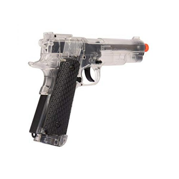 WellFire Airsoft Pistol 5 WellFire G292B-CR M1911 CO2 Airsoft Non-Blowback Pistol Clear