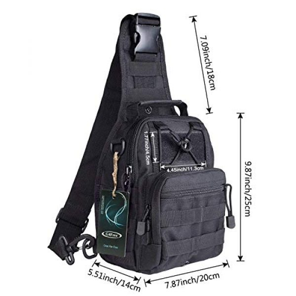 G4Free Tactical Backpack 3 G4Free Tactical Sling bag and Big version Sling Backpack for Concealed Carry