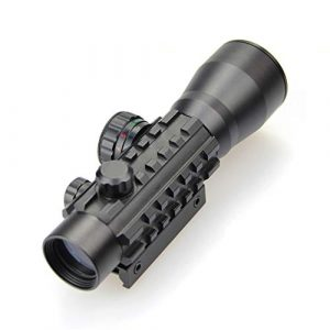 DJym Rifle Scope 1 DJym 2X30mm Red Dot Sight for Hunting Rifle Scopes, High-Definition Blue Film Red and Green Aiming Nitrogen Waterproof Anti-Fog