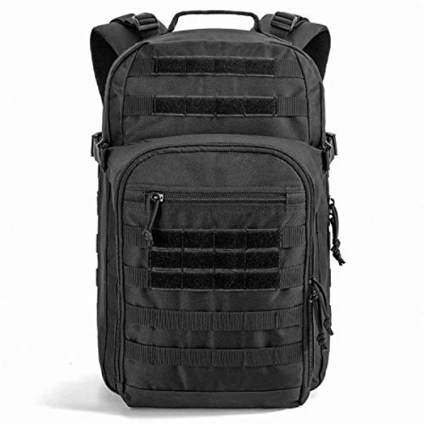 SHARKMOUTH Tactical Backpack 1 SHARKMOUTH Tactical Backpack, Large Army 3 day Assault Pack Bag Rucksack, 42L Military MOLLE Backpacks