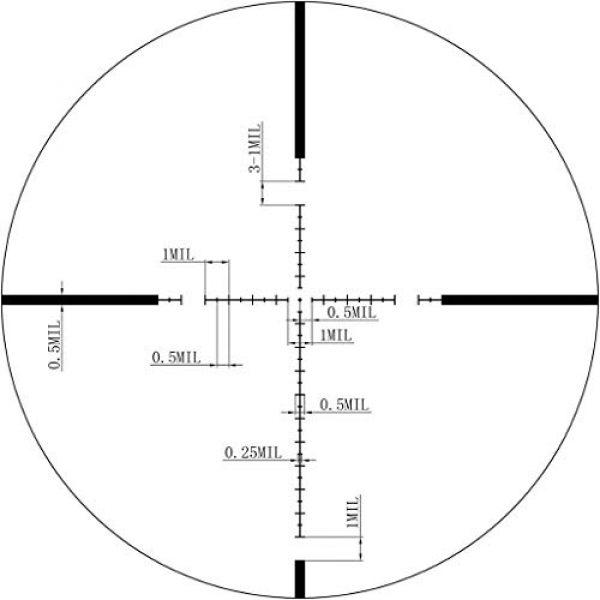 Vector Optics Rifle Scope 7 Vector Optics Marksman 3.5-10x44mm, 1/10 MIL, 30mm Tube, Second Focal Plane (SFP) Hunting Riflescope