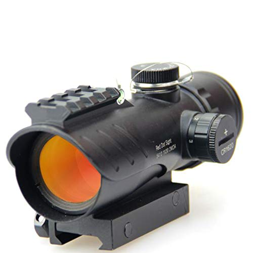 DJym Rifle Scope 4 DJym Red Dot Sight with Air Level, Parallax Free Unlimited Eye Relief Usefriendly for Close Range Hunting and Shooting