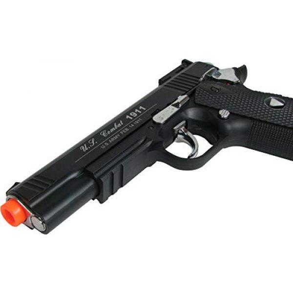 WinGun Airsoft Pistol 5 WinGun Special Combat Pistol 1911 CO2 Blowback Airsoft Gun Black with Black Grip