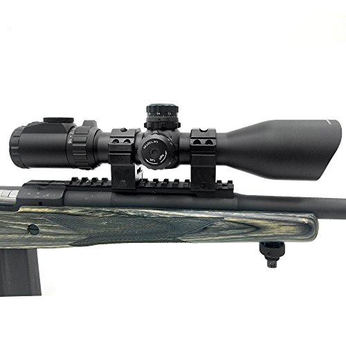 UTG Rifle Scope 5 UTG 4-16X44 30mm Compact Scope, AO, 36-color Glass Mil-dot