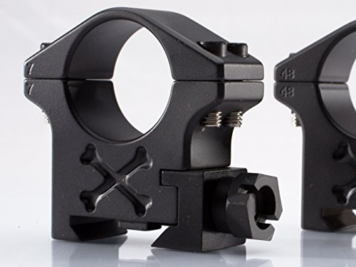 Talley Rifle Scope Ring 1 34mm Tactical Ring (Black Armor) (Extra High)