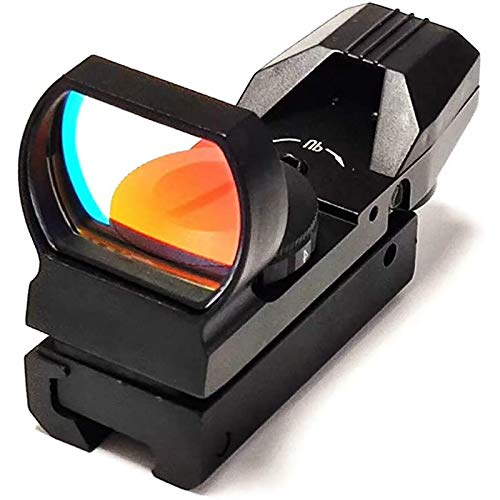 TTHU Rifle Scope 1 TTHU Rifle Scope Red Dot Sight 4 Reticles Gun Sight 4 Reticles Green and Red Air Scope Reflex Sight for Telescope Hunting Paintball