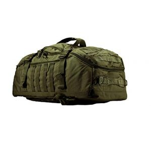 """World Famous Sports Tactical Backpack 1 World Famous Sports 45 Liter Tactical Duffel Bag, OD Green, 21""""x14""""x12"""" (TB-621-OD)"""