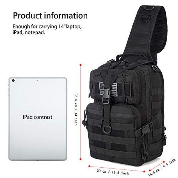 J.CARP Tactical Backpack 4 J.CARP Tactical EDC Sling Bag Pack, Military Rover Shoulder Molle Backpack, with USA Flag Patch