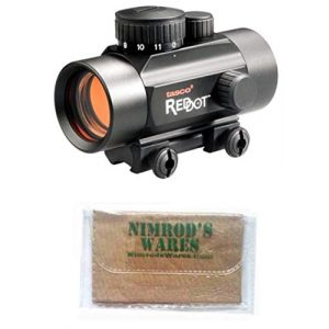 Nimrod's Wares Rifle Scope 1 Nimrod's Wares Tasco ProPoint Ruger 10/22 Red Dot Sight 1x30mm 5 MOA Bundle with Microfiber Cloth