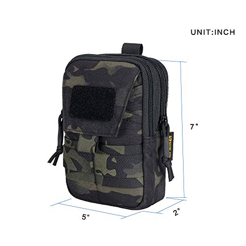 EXCELLENT ELITE SPANKER  2 EXCELLENT ELITE SPANKER Tactical Molle EDC Pouch Nylon Belt Waist Bag Camping Hiking Organizer with Cellphone Holster for iPhone 12Pro 12 11ProMax XsMax XR XS X 8Plus 8 7 6 Samsung Galaxy Note 9 S9