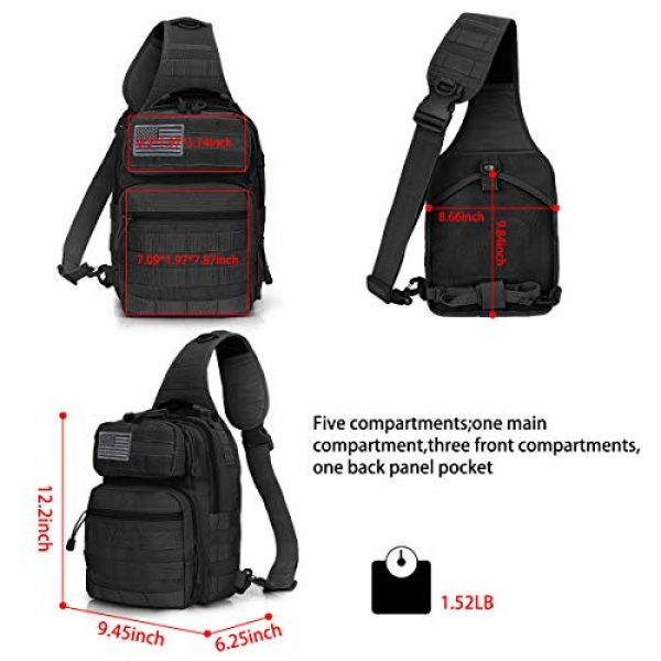G4Free Tactical Backpack 3 G4Free Tactical Sling Bag Backpack Military Rover Shoulder Sling Pack Molle EDC Small Crossbody Chest Pack