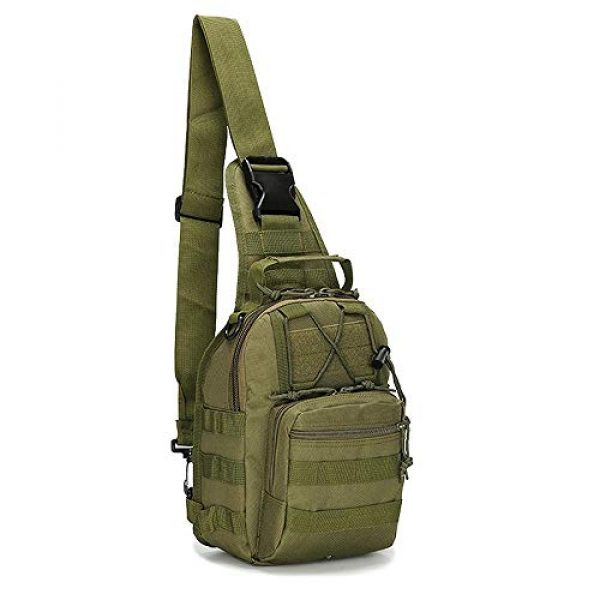 Rootless Tactical Backpack 1 Rootless Tactical MOLLE Military Sling Daypack - Small Messenger Bag