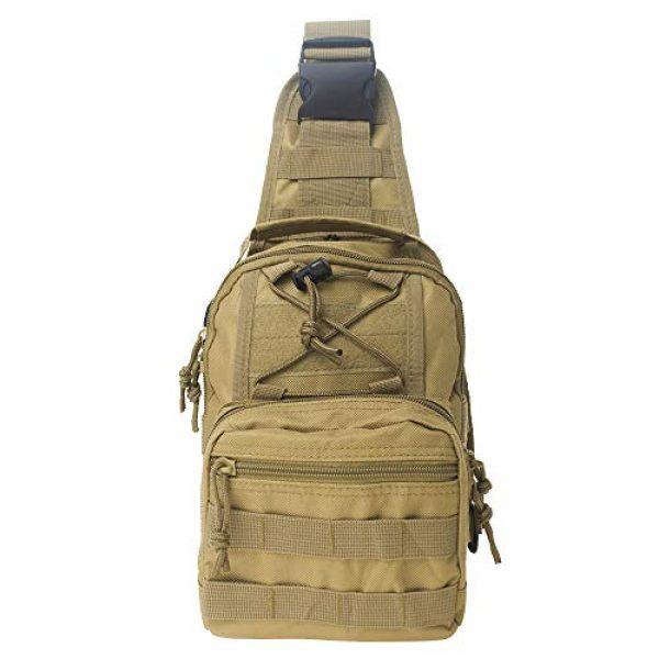 TOPTIE Tactical Backpack 2 TOPTIE Tactical Sling Bag, EDC Molle Sling Bag Range Bag, Camping Hiking Trekking