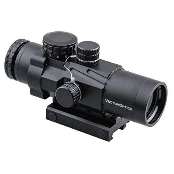 Vector Optics Rifle Scope 6 Vector Optics Calypos 3x32mm, 1/2 MOA, Red Illuminated BDC Reticel, Second Focal Plane (SFP) Compact Tactical Prism Riflescope