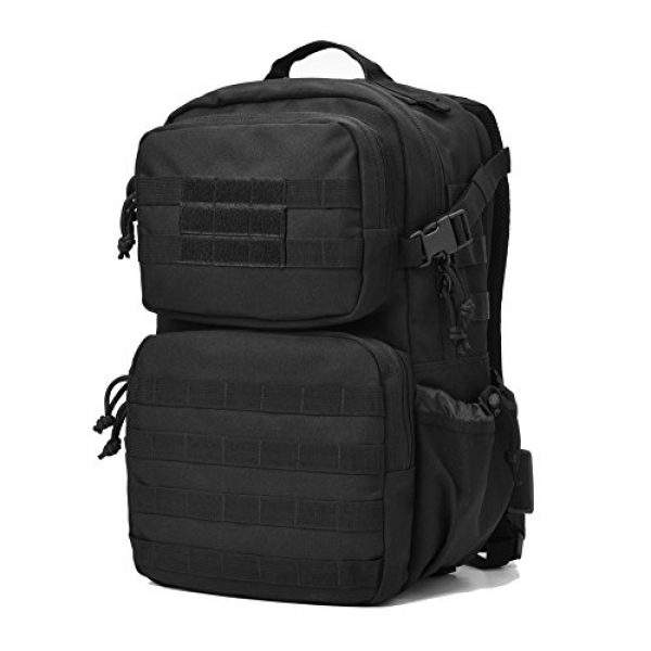 REEBOW GEAR Tactical Backpack 2 REEBOW GEAR Military Tactical Backpack Army Assault Pack Molle Bug Bag Backpacks Rucksack for Outdoor Sport Travel Hiking Camping School Daypack Black