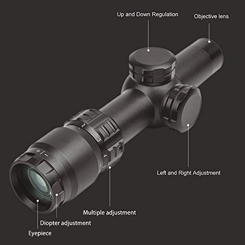 Robin Hunting Rifle Scope 4 Robin Hunting 2-8X20 Tactical Optical Sight with 11/20mm Rail Mount Rings Shooting Outdoor Rifle Scope