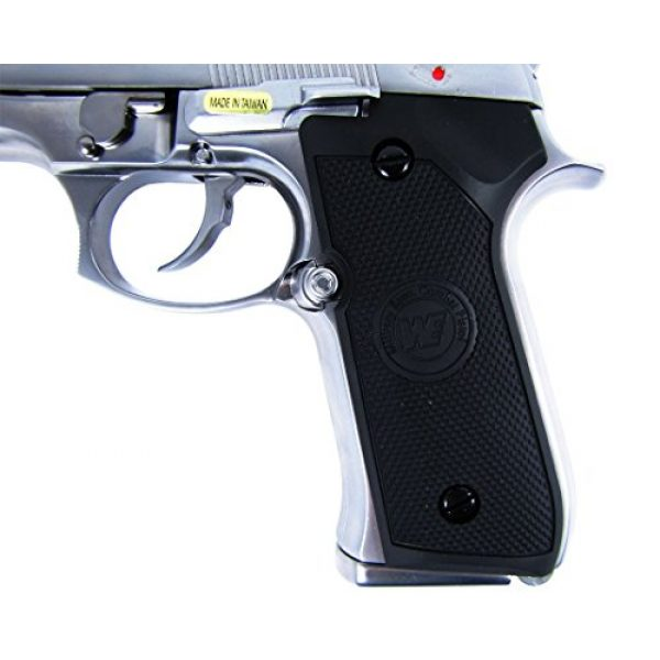 WE Airsoft Pistol 6 WE m92 gas/co2 blowback full metal - silver by we(Airsoft Gun)