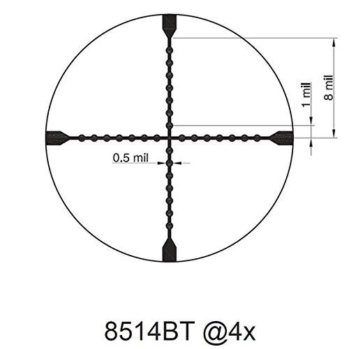 TRUGLO Rifle Scope 4 TRUGLO TRU-Brite 30 Series 1-6 X 24mm Dual-Color Illuminated-Reticle Rifle Scope with Mount, Matte Black, 1-6 x 24mm/40mm/30mm (TG8516TL)