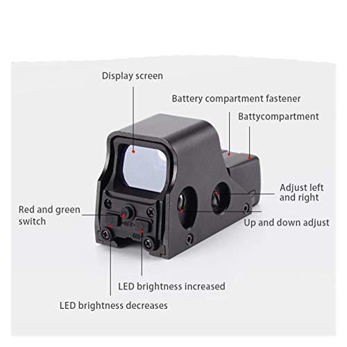 Without Rifle Scope 2 Toy Gun Sight Red dot Sight Magnification Hunting Mirror 22mm Tactical Optical Accessories Green Red Dot Scope Holographic Collimator Reflex 4 Scope (Color : Black)