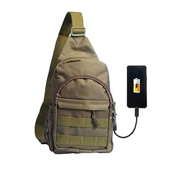 Saigain Tactical Backpack 1 Saigain Men's Tactica Small Sling Backpacks Chest Shoulder Bag Molle Casual with USB Charging for Outdoor Hiking Camping