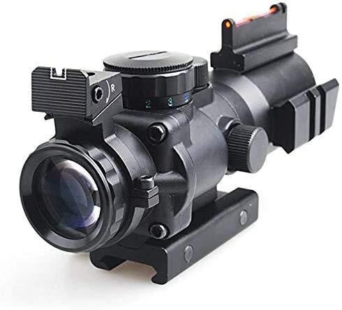Sniper Rifle Scope 2 Sniper Prism Scope 4X 32mm Red/Green/Blue Illuminated Reticle