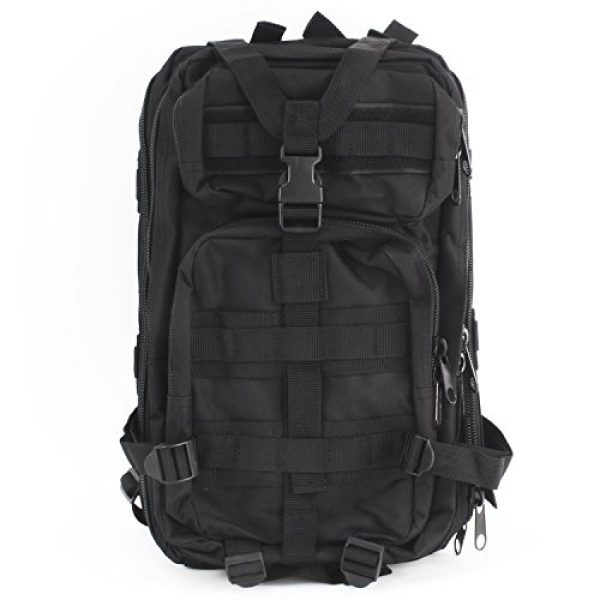 """MediTac Tactical Backpack 2 MediTac Tactical Assault Pack - First Aid Rucksack - 18"""" Military MOLLE Backpack"""