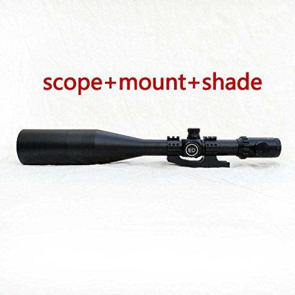SECOZOOM Rifle Scope 3 SECOZOOM Optics 4-50x75mm New Mil Dot Reticle Optical Sight Big Wide Field of View Military Riflescope Hunting Tactical Optical Sights .50BMG w 35mm mounts and Sunshade