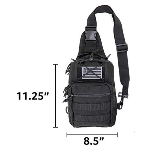 LINE2design Tactical Backpack 6 LINE2design First Aid Sling Backpack - EMS Equipment Emergency Medical Supplies Tactical Range Shoulder Molle Bag - Heavy Duty Sports Outdoor Rescue Pack - Perfect for Camping Hiking Trekking - Black