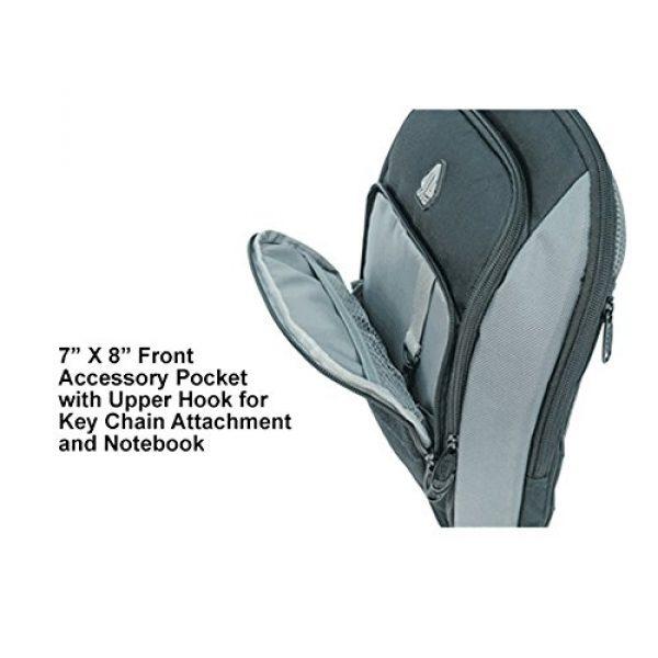 UTG Tactical Backpack 6 UTG Vital Chest Pack/Shoulder Sling Bag,Black/Gun Metal