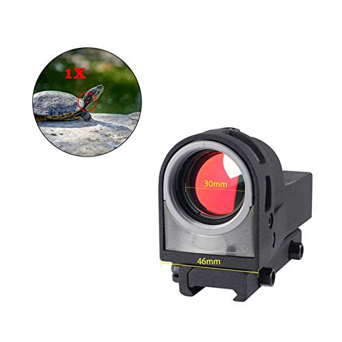 UELEGANS Rifle Scope 7 UELEGANS Red Dot Tactical Self-Illuminated Reflex Sight for Shooting Riflescope with Kill Flash Anti Reflection Device Protector for Hunting, Sport Shooting Airsoft