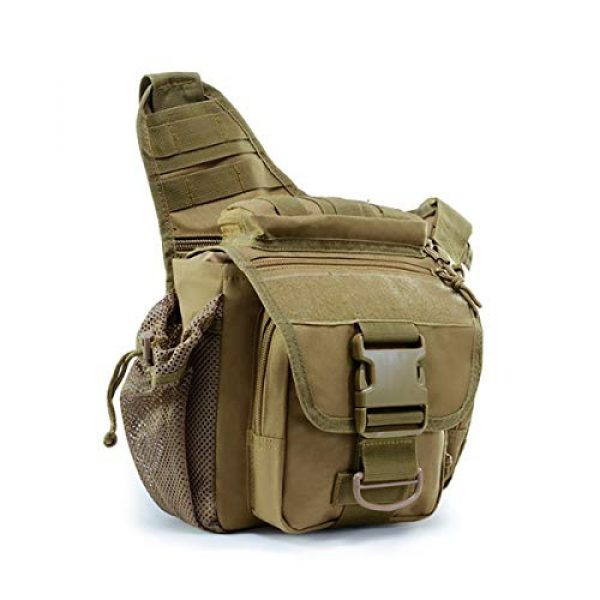 BraveHawk OUTDOORS Tactical Backpack 1 BraveHawk OUTDOORS Tactical Messenger Bag, 900D Oxford Waterproof Outdoor EDC Sling Pack for Fishing Hiking Camping Trekking Cycling