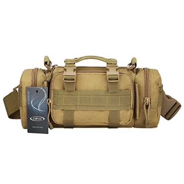 G4Free Tactical Backpack 1 G4Free Fanny Deployment Bag Tactical Waist Pack Small Sling Pack Hand Carry Bag Handlebar Bag