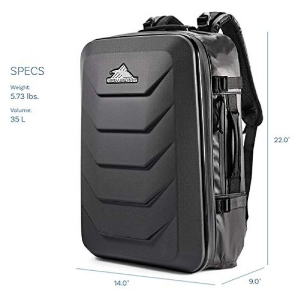 High Sierra Tactical Backpack 2 High Sierra OTC 35L Carry-on Weekender Suitcase Luggage - Ideal for Travel and Laptop Backpack