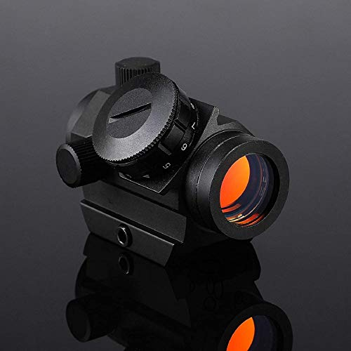 QILU Rifle Scope 7 QILU 1x25mm Reflex Sight, 4 MOA Micro Red Dot Gun Sight Rifle Scope with 1 Inch Riser Mount