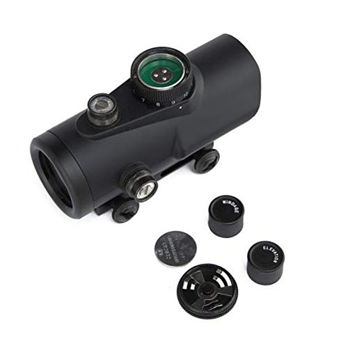 DJym Rifle Scope 3 DJym Advanced Red Dot Sight, Matt Black Sight for Hunting Rifle Scopes Rail 22 mm