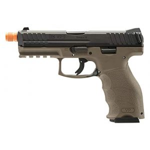 Elite Force Airsoft Pistol 1 Elite Force HK Heckler & Koch VP9 GBB Blowback 6mm BB Pistol Airsoft Gun, FDE, Multi, One Size (2275025)
