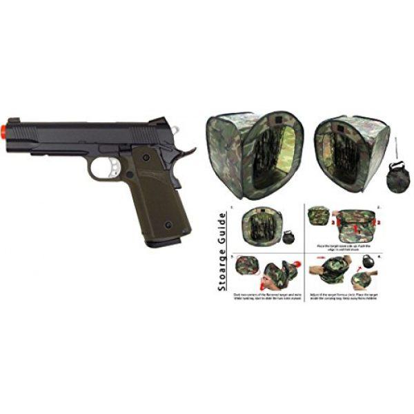 KJW Airsoft Pistol 7 gbb-615g - KJW full metal semi auto gas blowback pistol with free target trip tent(Airsoft Gun)