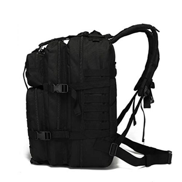 VooDoo Tactical Tactical Backpack 2 Military Tactical Assault Backpack Army MOLLE Rucksack, 3 Day Pack,for Outdoor Hiking Camping Trekking Hunting (Black)