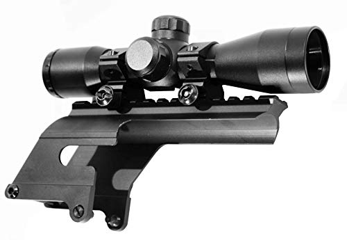 TRINITY Rifle Scope 3 Trinity 4x32 mildot Reticle Aluminum Black Picatinny Weaver Mount Adapter Tactical Optics Hunting Scope Single Rail Base for Stevens 320