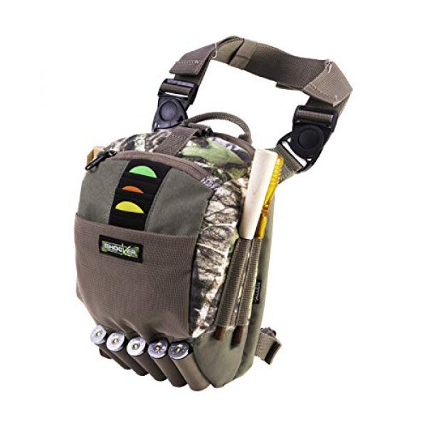 Allen Company Tactical Backpack 2 Allen Company Shocker Cut-N-Run Turkey Hunting Pack - 3in1 Functionality: Thigh Pack, Sling Pack, Chest Pack - Multi Functional -9 Features, Camo 19170 One Size