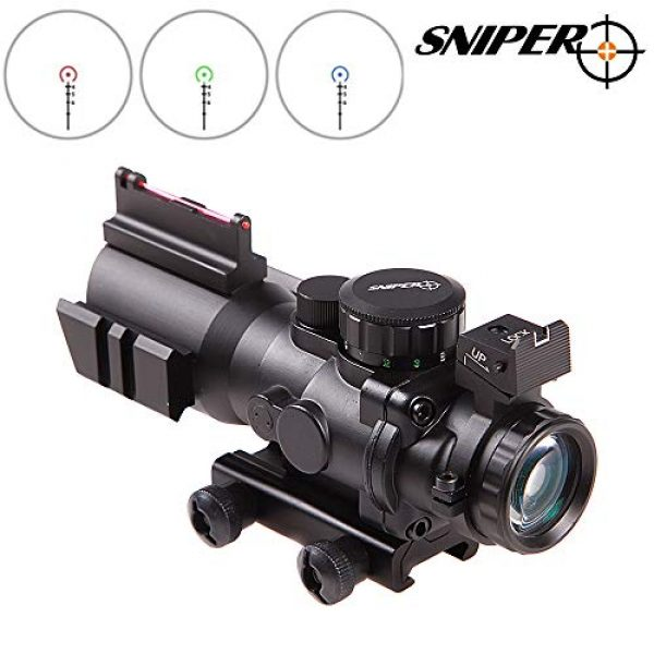 Sniper Rifle Scope 4 Sniper 4x32 Rifle Scope Red/Green Illuminated Reticle Scope