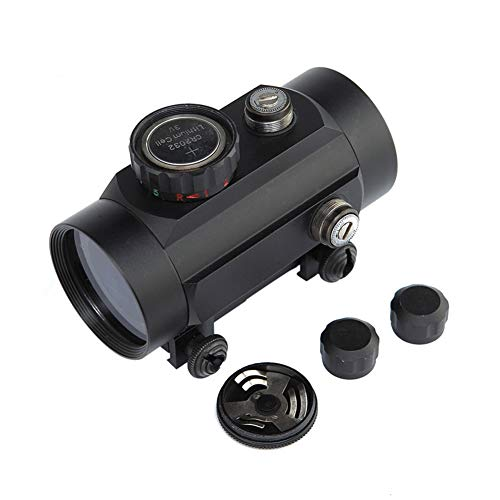DJym Rifle Scope 4 DJym Tactical 1x40mm Red Dot Sight for Rifle Carbine Shootgun Gun Hunting Outdoor Sports