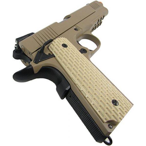WE Airsoft Pistol 5 WE combat 191 gas blowback full metal - tan(Airsoft Gun)