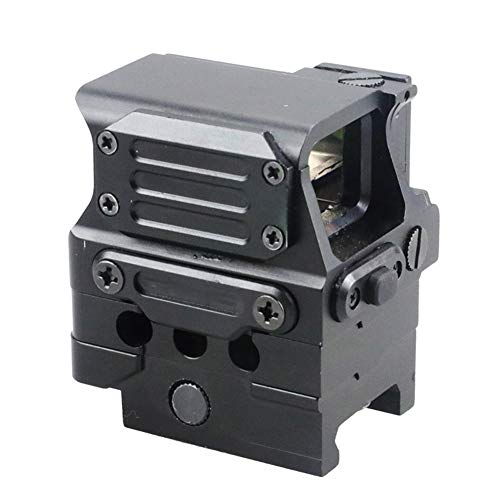 DJym Rifle Scope 4 DJym Square Red Dot Sight, Universal Scope 7 File Lighting Adjustment