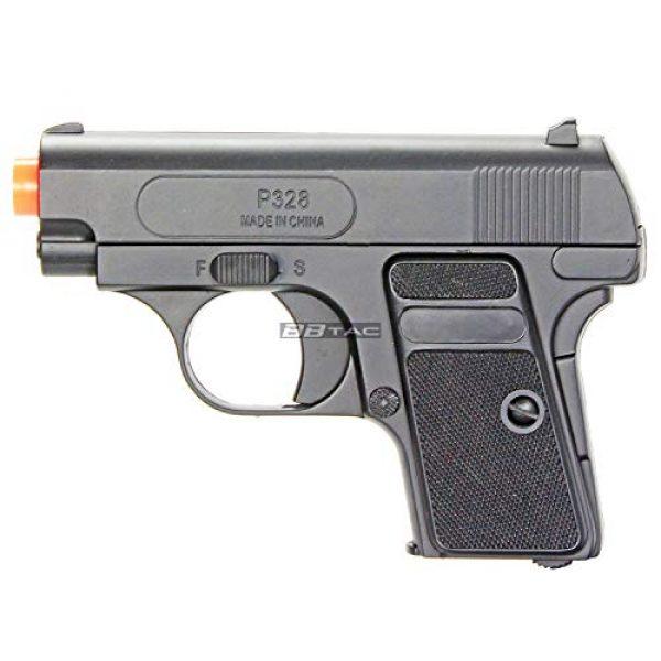BBTac Airsoft Pistol 5 bbtac 618 110 fps spring concealable airsoft gun with storage case, black/silver(Airsoft Gun)