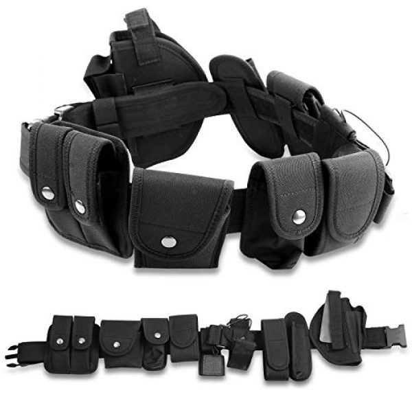adit_to Tactical Pouch 1 adit_to 1 Pcs Police Security Guard Modular Enforcement Equipment Duty Belt Tactical 800 Nylon